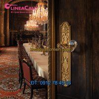 Báo giá Khóa cửa đại sảnh gắn pha lê Brilliant Crystal 1530-PL của LineaCali