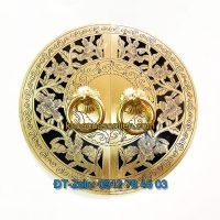 Báo giá nơi bán mẫu Mặt bích trang trí tủ bằng đồng kèm tay giật tròn, hoa văn giả cổ giá rẻ tại Hà Nội