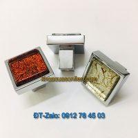 Báo giá nơi bán mẫu Núm tủ hiện đại hình vuông đính mặt thủy tinh Mosaic NT-010 giá rẻ tại Hà Nội